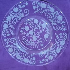 Lovely etched glass plate